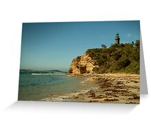 Black Lighthouse,Queenscliff Greeting Card