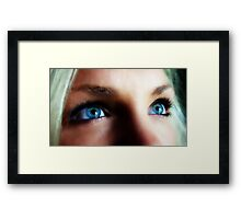 Blue Eyed Blond Framed Print