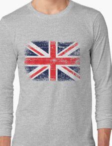 Vintage UK British Flag design Long Sleeve T-Shirt