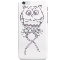 Breast Cancer Awareness Owl iPhone Case/Skin