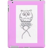 Breast Cancer Awareness Owl iPad Case/Skin