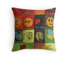 Icons and 12 Stages of a Relationship Throw Pillow