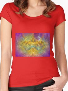 Obeisance to Nature , modern digital abstract art prints Women's Fitted Scoop T-Shirt