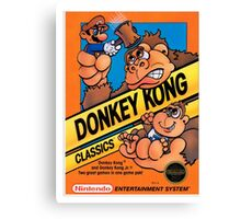 DONKEY KONG NES Box cover Canvas Print