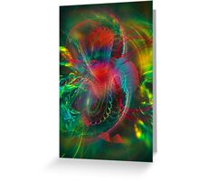 Jungle  - colorful modern digital abstract art prints  Greeting Card