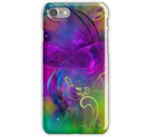 Kitten  - colorful modern digital abstract art prints iPhone Case/Skin