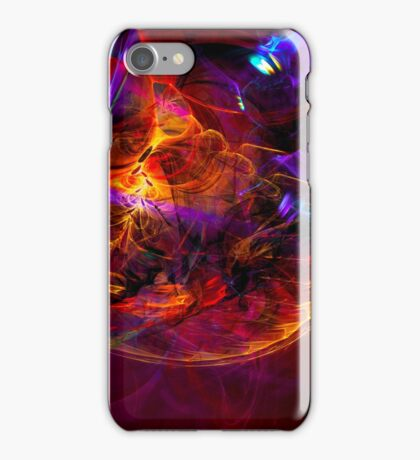 Journey to the Center of the Earth -digital modern colorful abstract art print iPhone Case/Skin