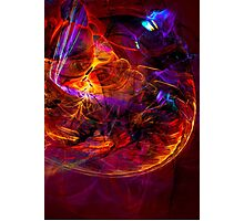 Journey to the Center of the Earth -digital modern colorful abstract art print Photographic Print