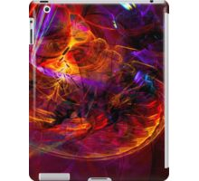 Journey to the Center of the Earth -digital modern colorful abstract art print iPad Case/Skin