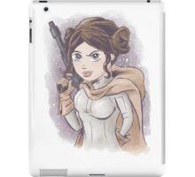 Star Wars Princess Leia Digital Watercolor iPad Case/Skin