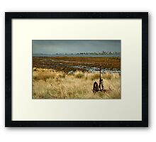 Beacon Point, view to Queenscliff Framed Print