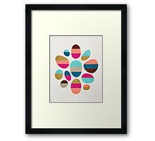 Color-Blocked Pebbles #2 Framed Print