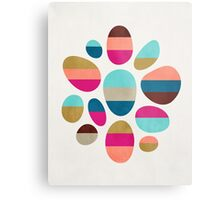 Color-Blocked Pebbles #2 Metal Print