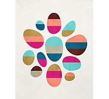 Color-Blocked Pebbles #2 Photographic Print
