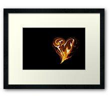 Blazing Heart Framed Print