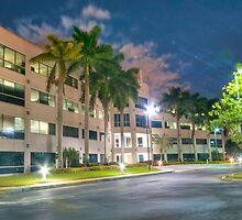 Modern Office Building at Night by robert cabrera