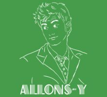 David Tennant Doctor Who Allons-Y by teestoreworld