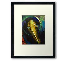 Ogon Koi and Water Ripple Framed Print