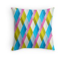 Pastel Diamonds 001 Throw Pillow