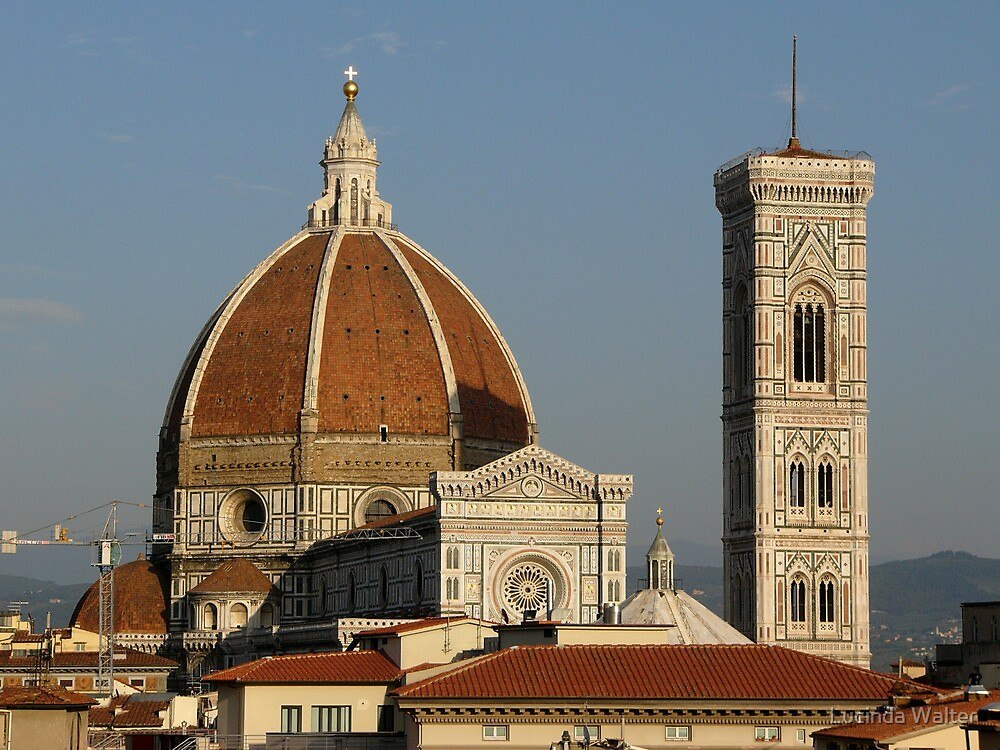 The famous landmark of florence italy by lucinda walter for Famous landmarks in
