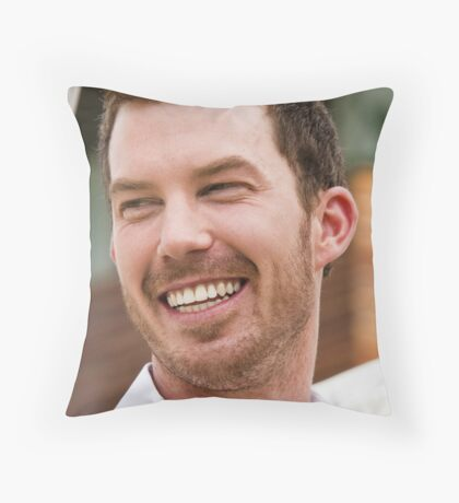 The Happy groom Throw Pillow