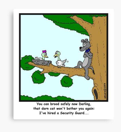 Security Guard Canvas Print