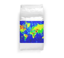Double Stylisation World Map Duvet Cover