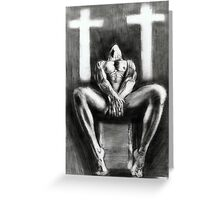 homage on religion...pencil Greeting Card