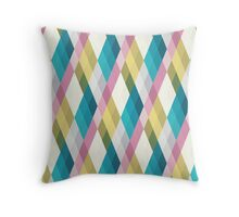 Pastel Diamonds 002 Throw Pillow