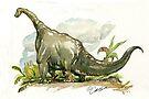 Brontosaurus by casa