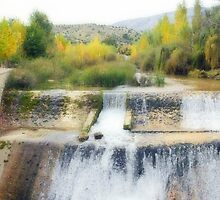 Autumn at the waterfall by missmoneypenny