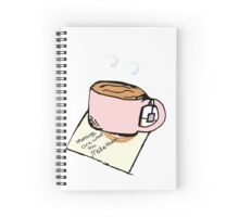 Mornings are what you make them Spiral Notebook