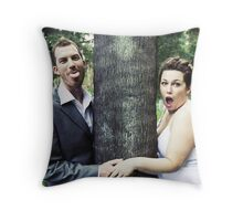 Either side of sanity Throw Pillow