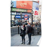 Lost in Piccadily Circus: London. UK. Poster
