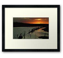 Wet Lands,Portarligton,Bellarine Peninsula Framed Print