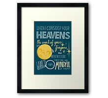 The Moon & the Stars Framed Print