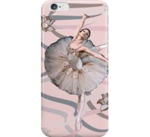Ribbon Ballet Dancer (Abstract) iPhone Case/Skin