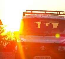 Jeep at Sunset  by Sunil Bhardwaj