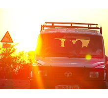 Jeep at Sunset  Photographic Print