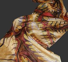 A silk scarf wiht dragon rhythms by SingingScarves