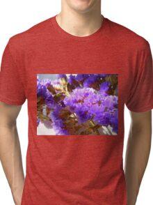 Dried Purple Flowers Tri-blend T-Shirt
