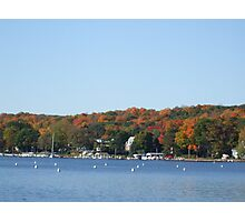 Colors on lake Geneva Photographic Print