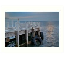 Pt Richards Jetty, Bellarine Peninsula Art Print