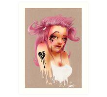 Girl 50 | Pigtails Art Print