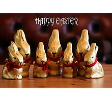 Happy Easter Bunnies Photographic Print