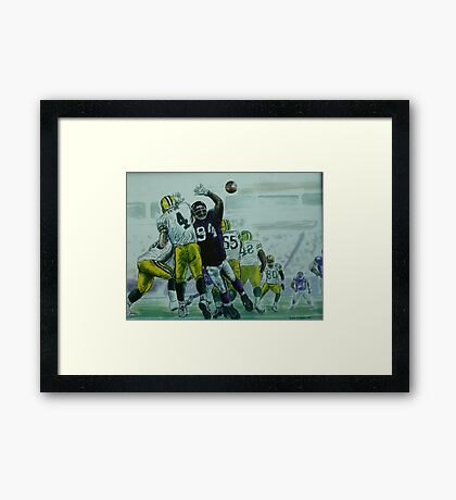 Favre vs Vikes Framed Print
