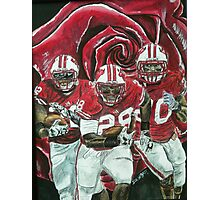 Rose bowl Badgers Photographic Print