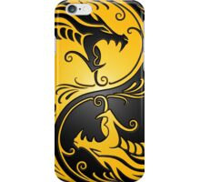 Yin Yang Dragons Yellow and Black iPhone Case/Skin