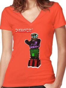 the robot t-shirt Women's Fitted V-Neck T-Shirt