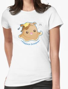 Cute Flapjack Octopus Womens Fitted T-Shirt
